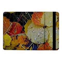 Autumn Rain Yellow Leaves Samsung Galaxy Tab Pro 10 1  Flip Case by Onesevenart