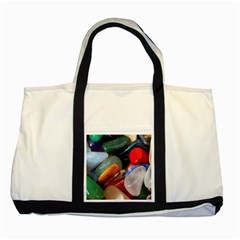 Beautiful Stones In Different Colors Colorful Two Tone Tote Bag by Onesevenart