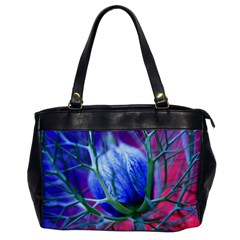 Blue Flowers With Thorns Office Handbags by Onesevenart