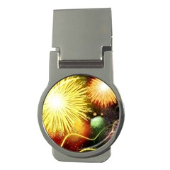 Celebration Colorful Fireworks Beautiful Money Clips (round)  by Onesevenart