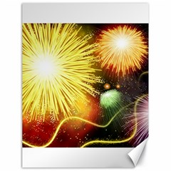Celebration Colorful Fireworks Beautiful Canvas 18  X 24   by Onesevenart