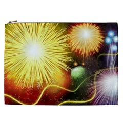 Celebration Colorful Fireworks Beautiful Cosmetic Bag (xxl)  by Onesevenart