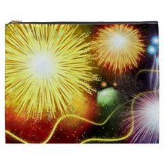 Celebration Colorful Fireworks Beautiful Cosmetic Bag (xxxl)  by Onesevenart