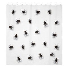 Flies Shower Curtain 66  X 72  (large)  by Valentinaart