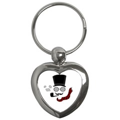 Invisible Man Key Chains (heart)  by Valentinaart