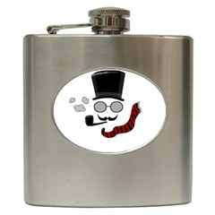 Invisible man Hip Flask (6 oz) by Valentinaart