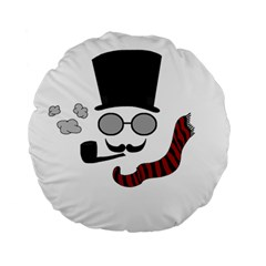 Invisible Man Standard 15  Premium Round Cushions by Valentinaart