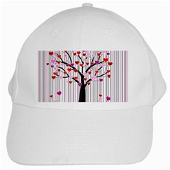 Valentine s Day Tree White Cap by Valentinaart