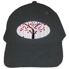 Valentine s Day Tree Black Cap by Valentinaart