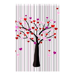 Valentine s Day Tree Shower Curtain 48  X 72  (small)  by Valentinaart
