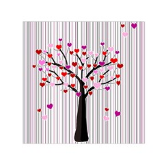 Valentine s Day Tree Small Satin Scarf (square) by Valentinaart