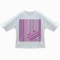 Pink Love Pattern Infant/toddler T Shirts by Valentinaart