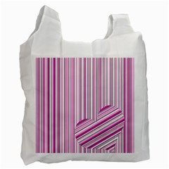 Pink Love Pattern Recycle Bag (two Side)  by Valentinaart