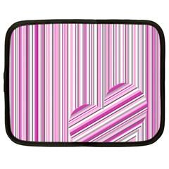 Pink Love Pattern Netbook Case (xxl)  by Valentinaart