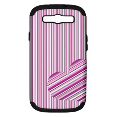 Pink Love Pattern Samsung Galaxy S Iii Hardshell Case (pc+silicone) by Valentinaart