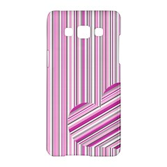 Pink Love Pattern Samsung Galaxy A5 Hardshell Case  by Valentinaart