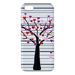 Love Tree Apple Iphone 5 Premium Hardshell Case by Valentinaart
