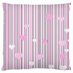 Pink Love Large Cushion Case (two Sides)