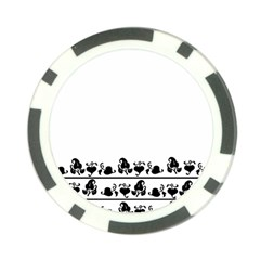 Simple Black And White Design Poker Chip Card Guard by Valentinaart