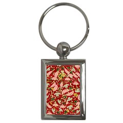 Pizza Pattern Key Chains (rectangle)  by Valentinaart