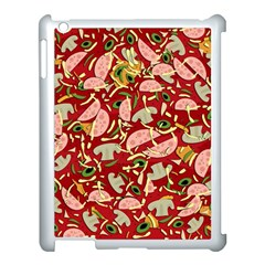 Pizza Pattern Apple Ipad 3/4 Case (white) by Valentinaart