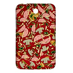 Pizza Pattern Samsung Galaxy Tab 3 (7 ) P3200 Hardshell Case  by Valentinaart