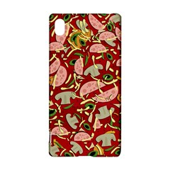 Pizza Pattern Sony Xperia Z3+ by Valentinaart
