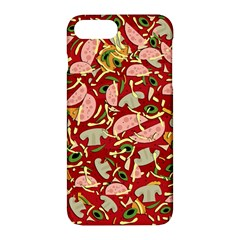 Pizza Pattern Apple Iphone 7 Plus Hardshell Case by Valentinaart