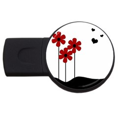 Flowers Usb Flash Drive Round (2 Gb) by Valentinaart