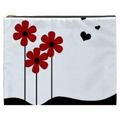 Flowers Cosmetic Bag (xxxl)  by Valentinaart