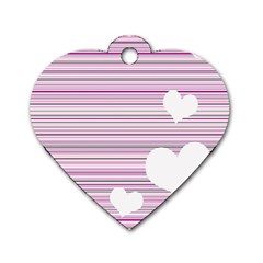 Pink Valentines Day Design Dog Tag Heart (one Side) by Valentinaart