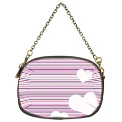 Pink Valentines Day Design Chain Purses (one Side)  by Valentinaart