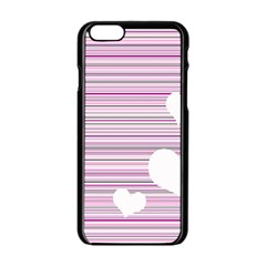 Pink Valentines Day Design Apple Iphone 6/6s Black Enamel Case by Valentinaart