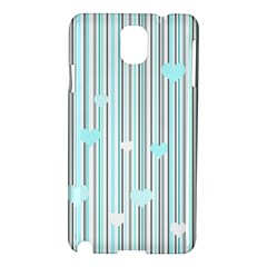 Cyan Love Samsung Galaxy Note 3 N9005 Hardshell Case by Valentinaart