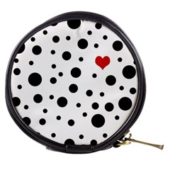 Dots And Hart Mini Makeup Bags by Valentinaart