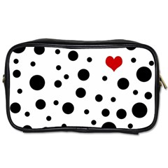 Dots And Hart Toiletries Bags by Valentinaart