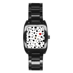 Dots And Hart Stainless Steel Barrel Watch by Valentinaart