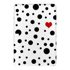 Dots And Hart Samsung Galaxy Tab Pro 12 2 Hardshell Case by Valentinaart