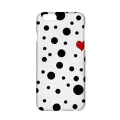 Dots And Hart Apple Iphone 6/6s Hardshell Case by Valentinaart