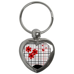 Cute Floral Desing Key Chains (heart)  by Valentinaart