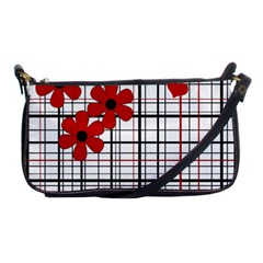 Cute floral desing Shoulder Clutch Bags by Valentinaart