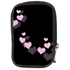 Pink Harts Design Compact Camera Cases by Valentinaart