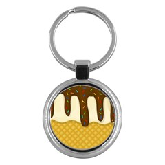 Ice Cream Zoom Key Chains (round)  by Valentinaart