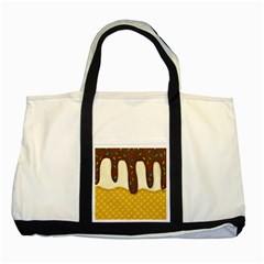 Ice Cream Zoom Two Tone Tote Bag by Valentinaart