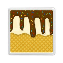 Ice Cream Zoom Memory Card Reader (square)  by Valentinaart