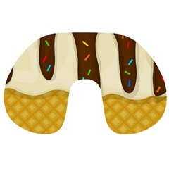 Ice Cream Zoom Travel Neck Pillows by Valentinaart