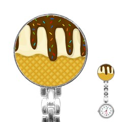 Ice Cream Zoom Stainless Steel Nurses Watch by Valentinaart