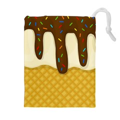 Ice Cream Zoom Drawstring Pouches (extra Large) by Valentinaart