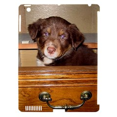 Border Collie Puppy In Drawr Apple iPad 3/4 Hardshell Case (Compatible with Smart Cover) by TailWags