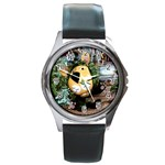 parsley-6 Round Metal Watch